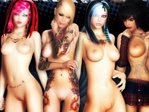 3D Bad Girls colegialas +18 desnudas