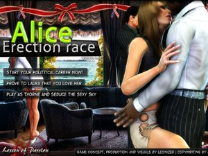 Alice Erection race erigido dibujos animados penes