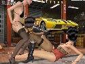 Tres chicas del garage