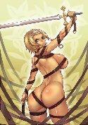 Elfo poderoso guerrero femenino