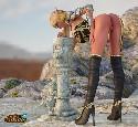 Mujer guerrero elfo