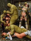 Orgia porno fantasia monstruo